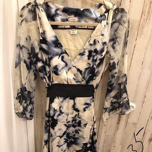 Viola beautiful 100% silk lined floral dress 8 LN